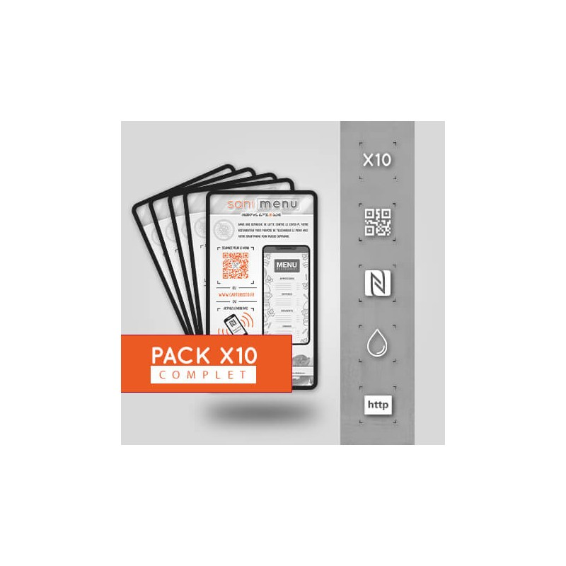Pack 10 Stickers Vinyle QR/NFC