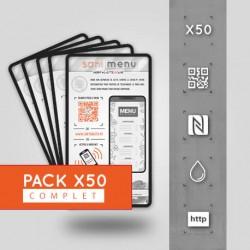 Pack 50 Stickers Vinyle QR/NFC