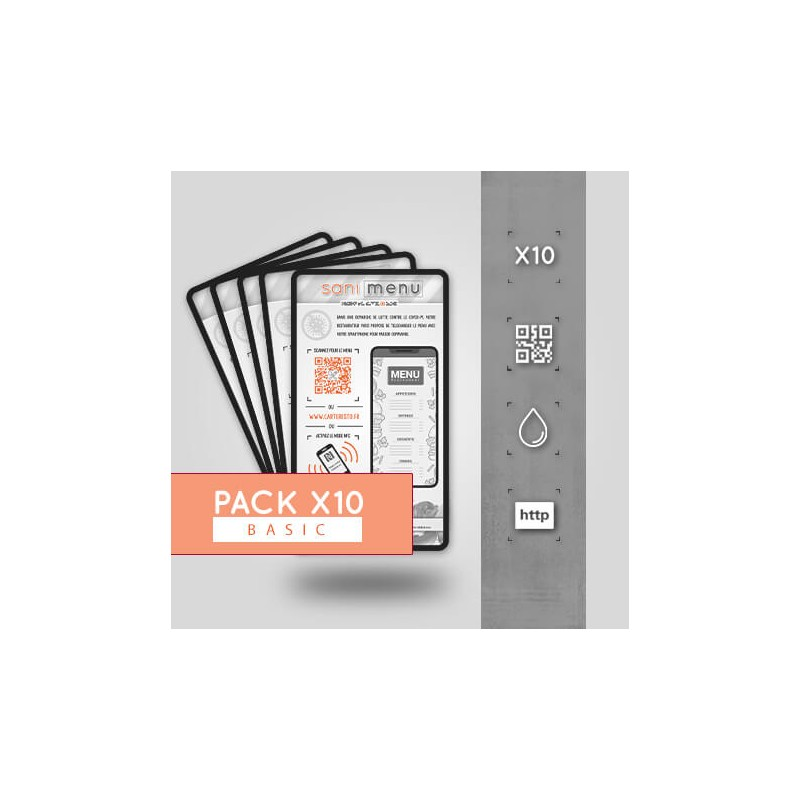 Pack 10 Stickers Vinyle QR