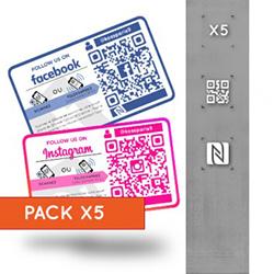 Pack 5 Stickers Réseaux...