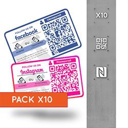 Pack 10 Stickers Réseaux...